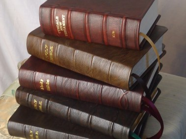 Hand-Dyed Rustic Goatskin Bibles
