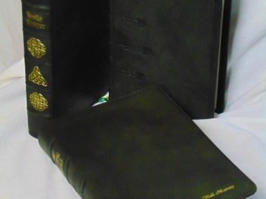 Green Hand-Dyed Rustic Goatskin Hardcovers and Softcover