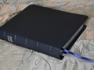 Navy Soft-Tanned Goatskin Bible