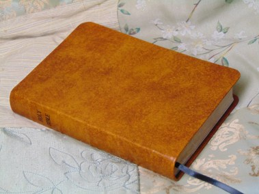 Saddle Tan Hand-Dyed English Calfskin Bible