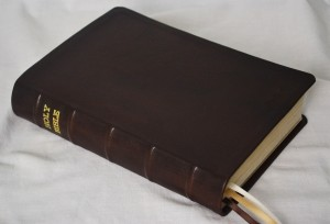 Bible rebound in black soft-tanned goatskin