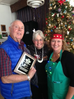 Larry Tyler awarded the 2015 Service To Mankind Award by Leona Valley Sertoma.