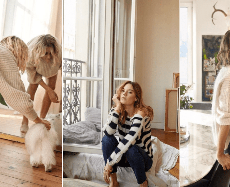 french girl style at home loungewear