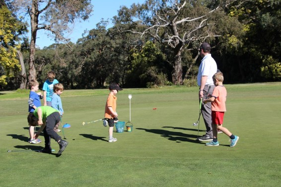 Junior cadets on the practice green