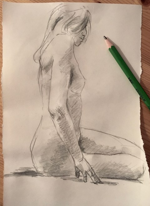 nude drawing sketch