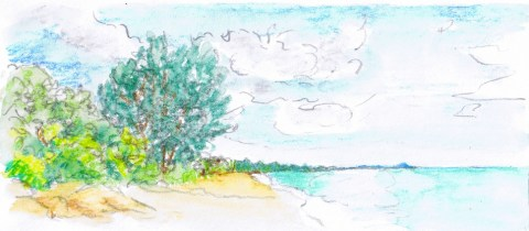 south drawing watercolour landscape