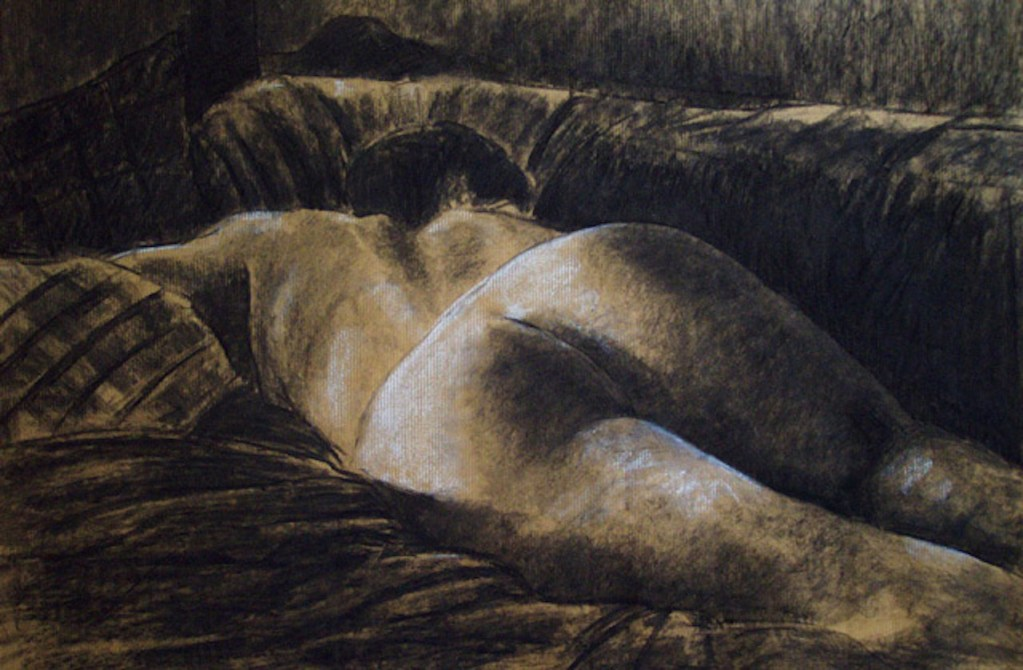 nude girl drawing