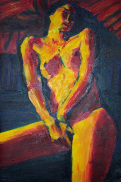 nude girl painting