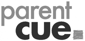 Parent Cue Logo Black and White