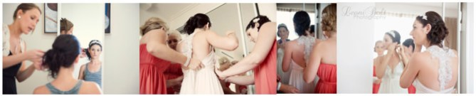 Bride's final touches