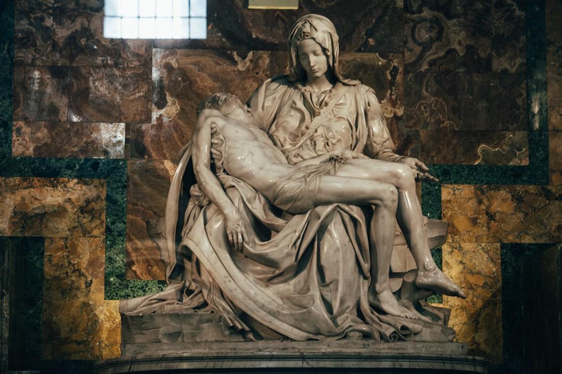 the pietà by michaelangelo, saint peter's basilica, vatican city. by leonie wise