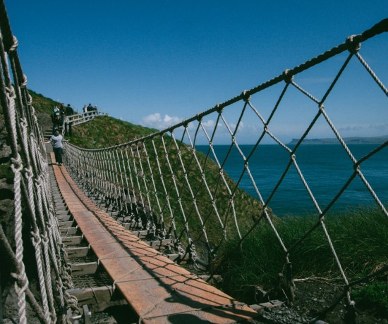 rope bridge and carrick-a-rede, northern ireland