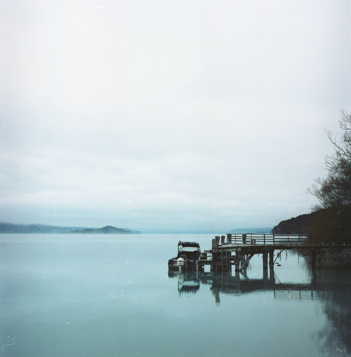 the jetty at kinloch, lake wakatipu, south island, new zealand. copyright leonie wise