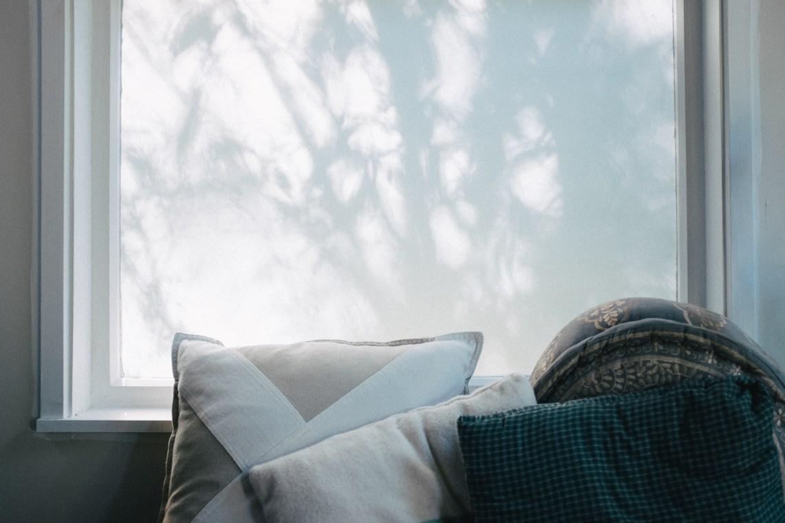 Tree shadows on a window by leonie wise