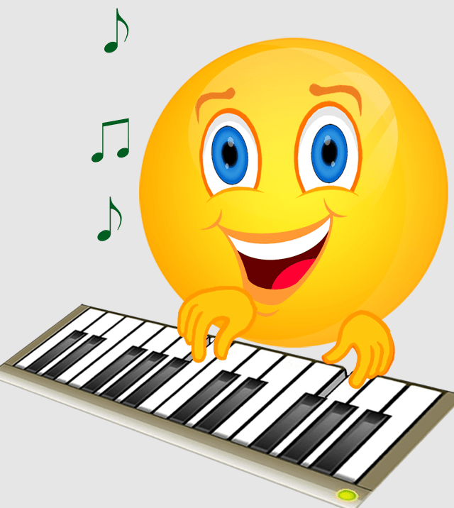Smiley Musik Cliparts