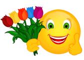 Smiley – fünf Tulpen