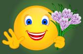 Smiley – Krokusse lilaweiss