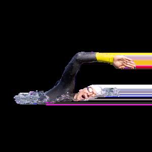 Schwimmen Crawlen freigestellt – Léon Koller