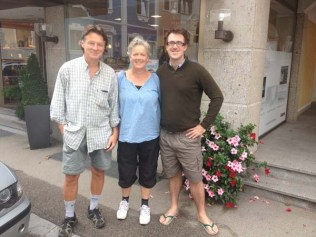 Our Swedish friends Peo and Lotte with Tim