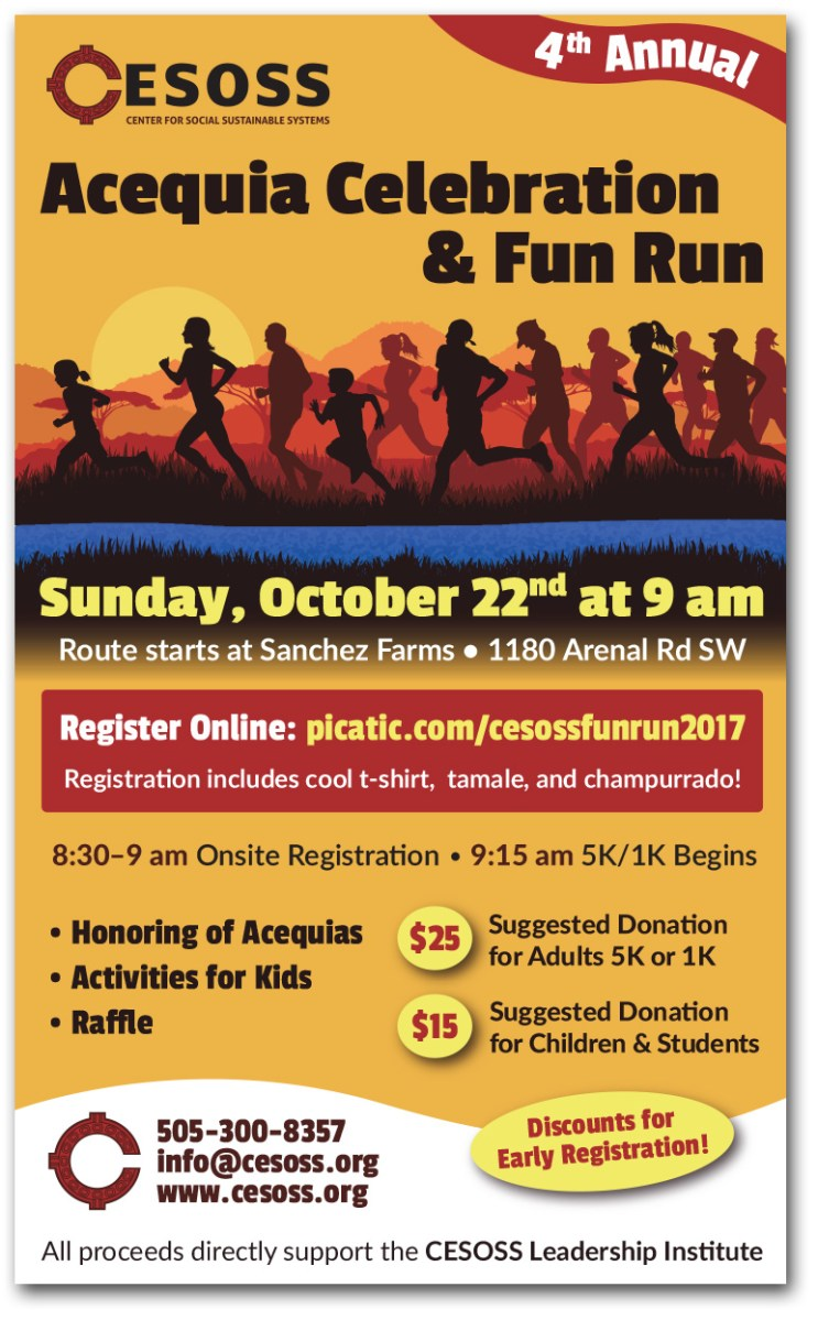 Poster design for CESOSS 2017 Fun Run