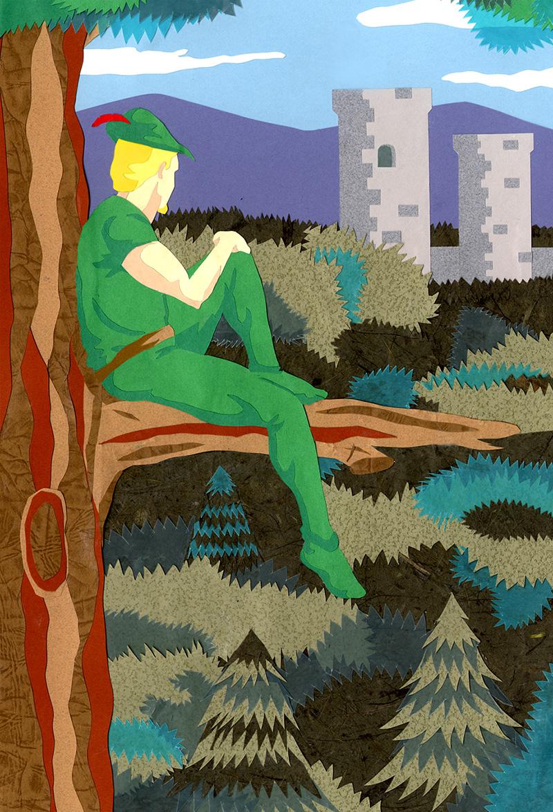 Illustration for Robin Hood book (school project)