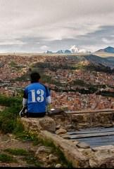 A city is climbing, Huayna Potosi, Bolivia