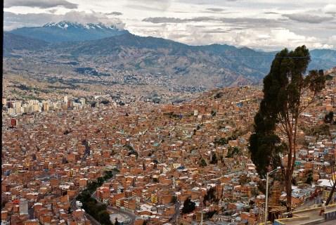 A sea of bricks, La Paz, Bolivia