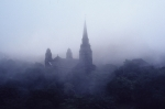 Edinburgh Castle in the mist