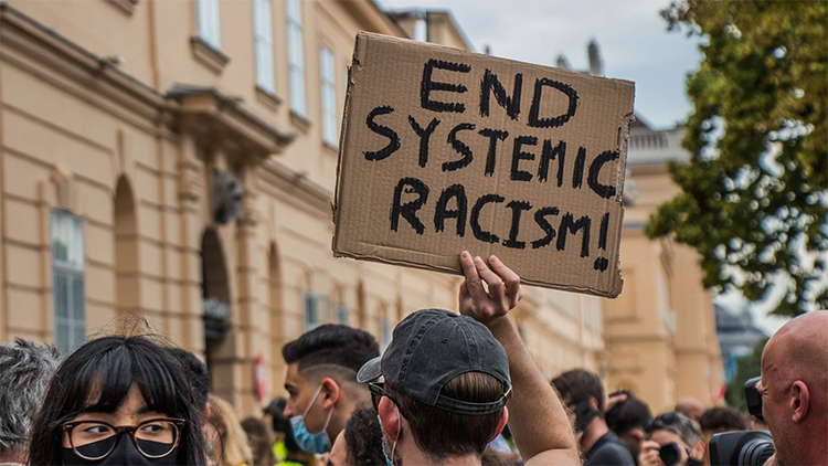 People protesting racism