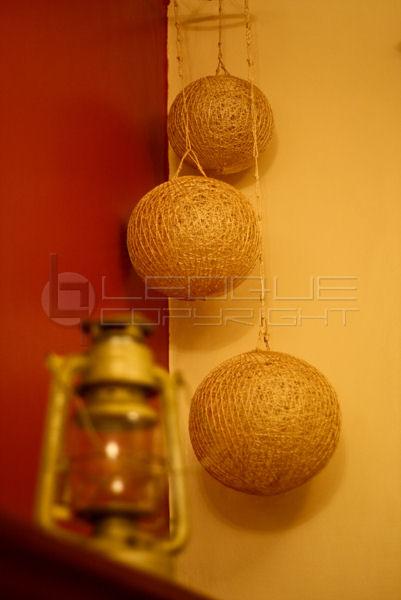 Hanging Corner Ceiling Abaca Balls Leoque Collection