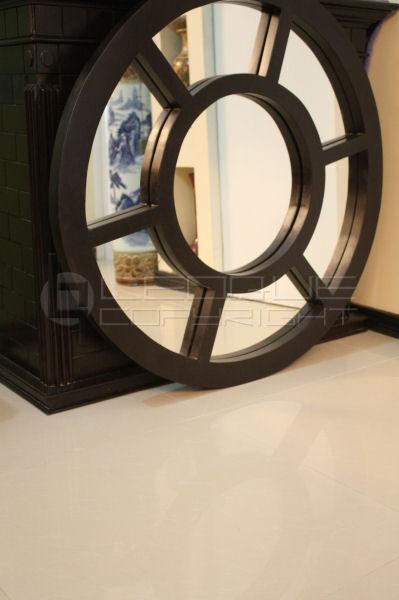 Solid Wood Round Wheel Framed Wall Zen Like Mirror