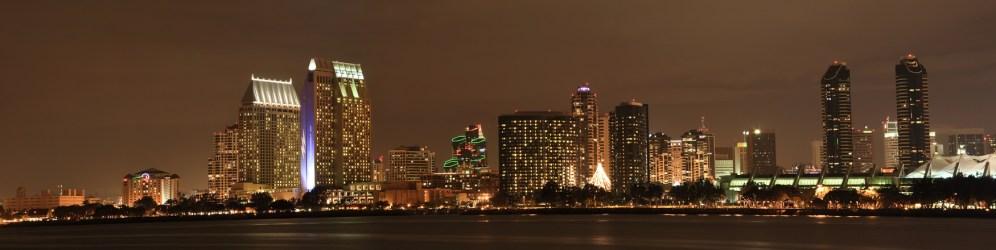 SD Skyline at night