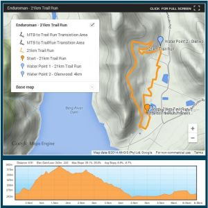 enduro run route official map
