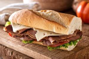 Leo's A Delicious Roast Beef Sandwich - Leo's- A-Delicious-Roast-Beef-Sandwich