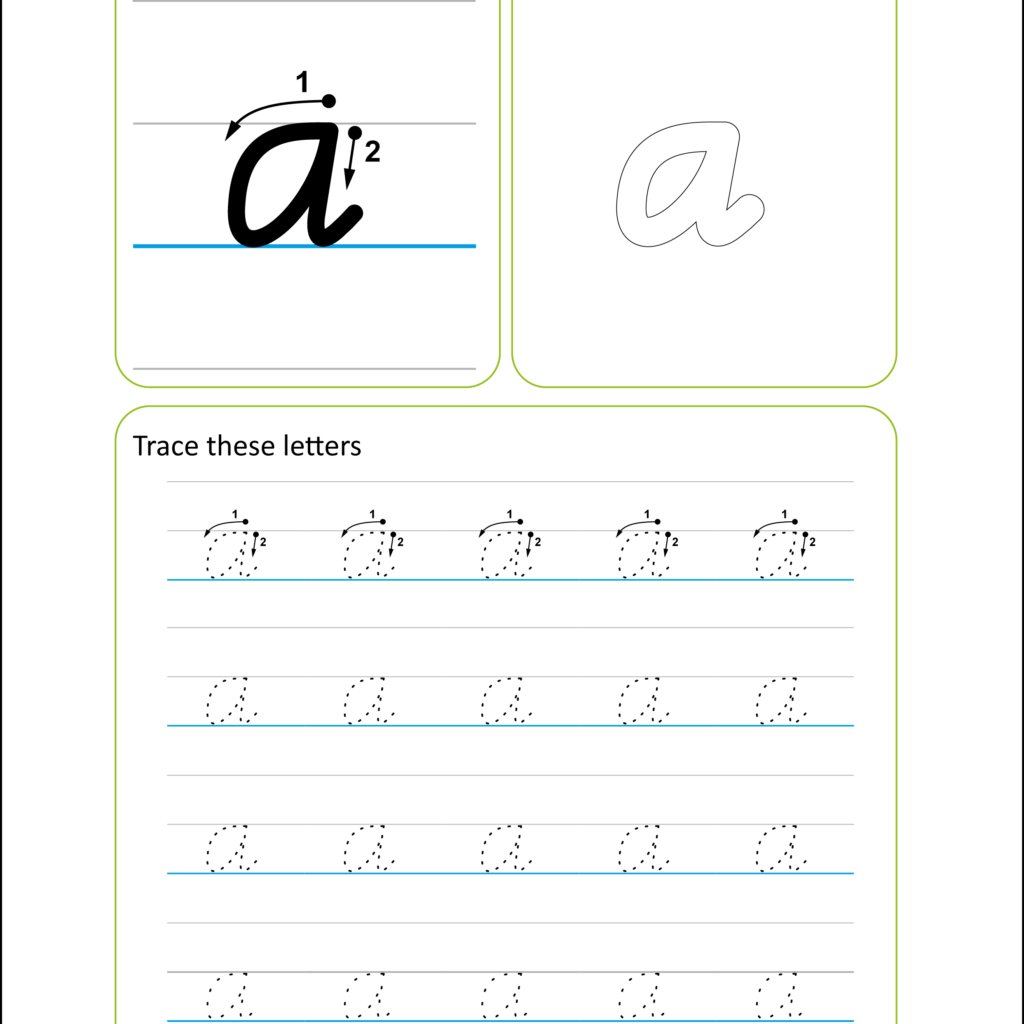 Victorian Modern Cursive Handwriting Worksheet