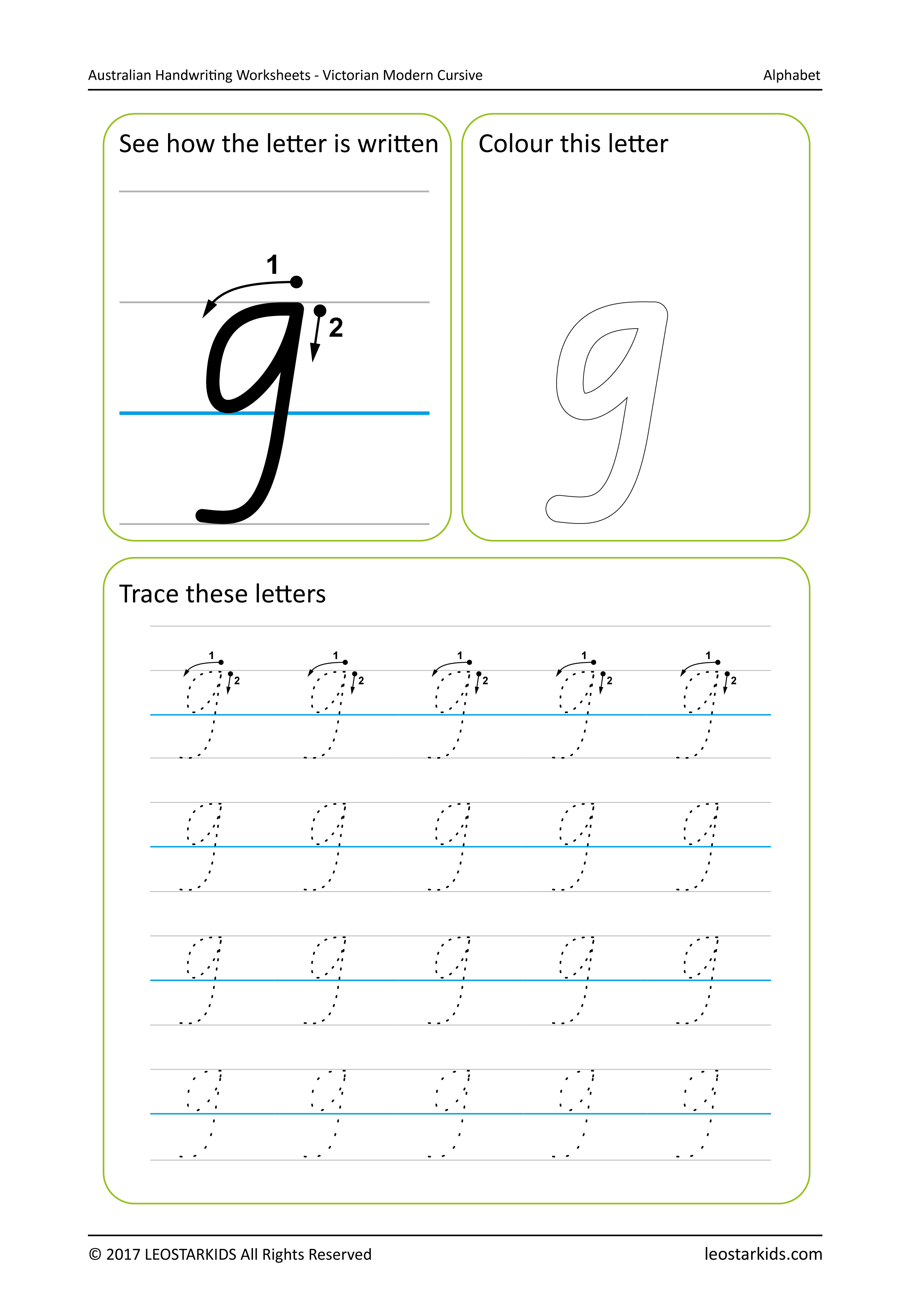 Cursive Tracing Worksheet N