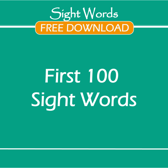 Image First 100 Sight Words-FREE