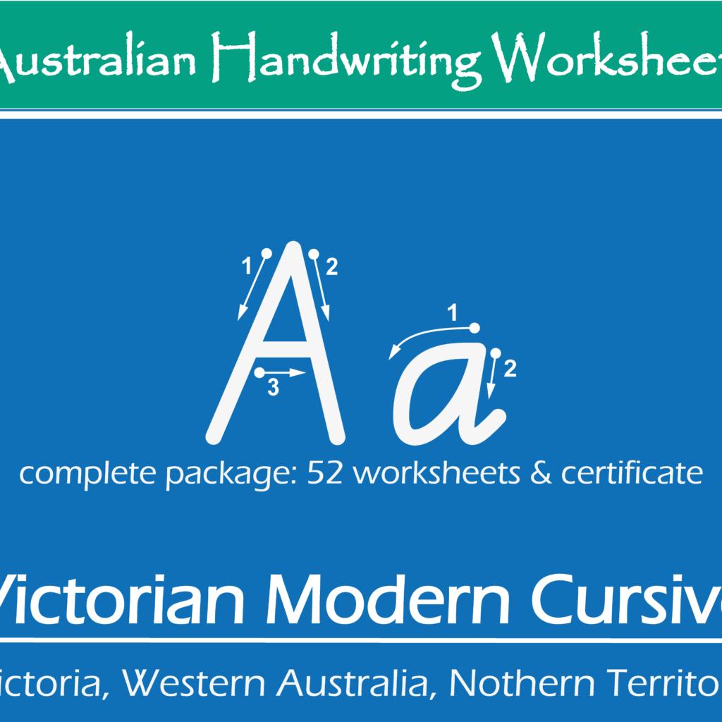 Australian Handwriting Practice Worksheets