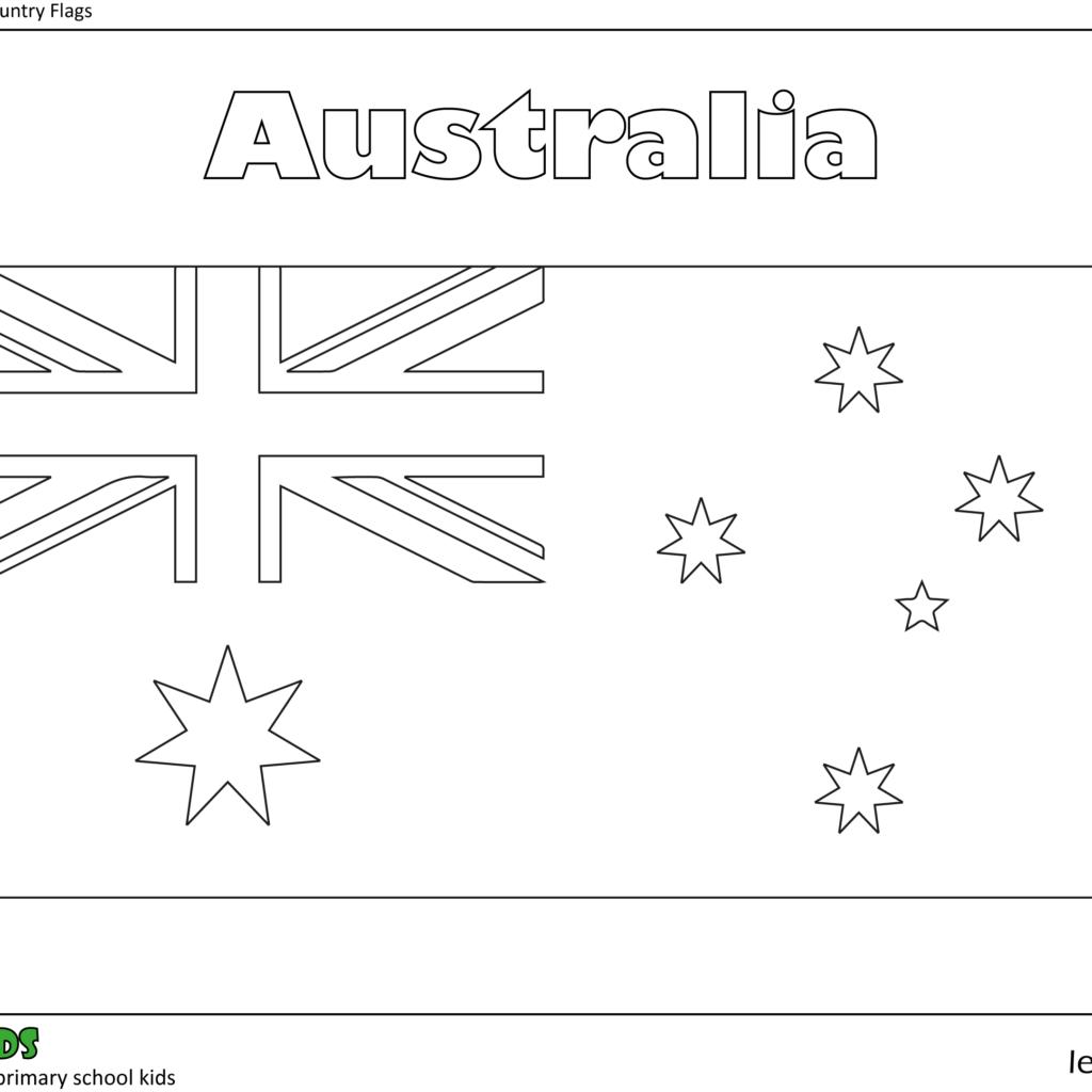 Colouring In Australia Flag