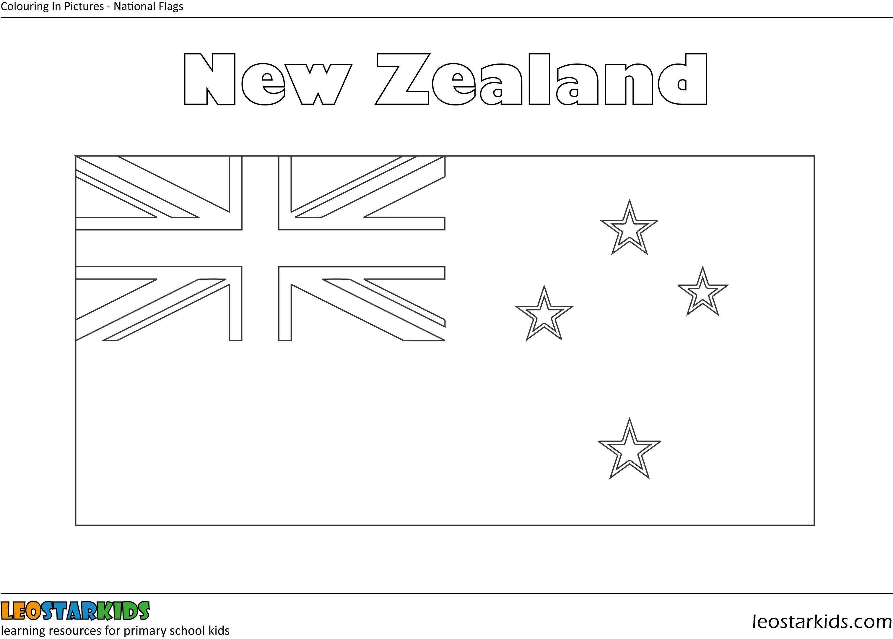 Colouring In New Zealand Flag