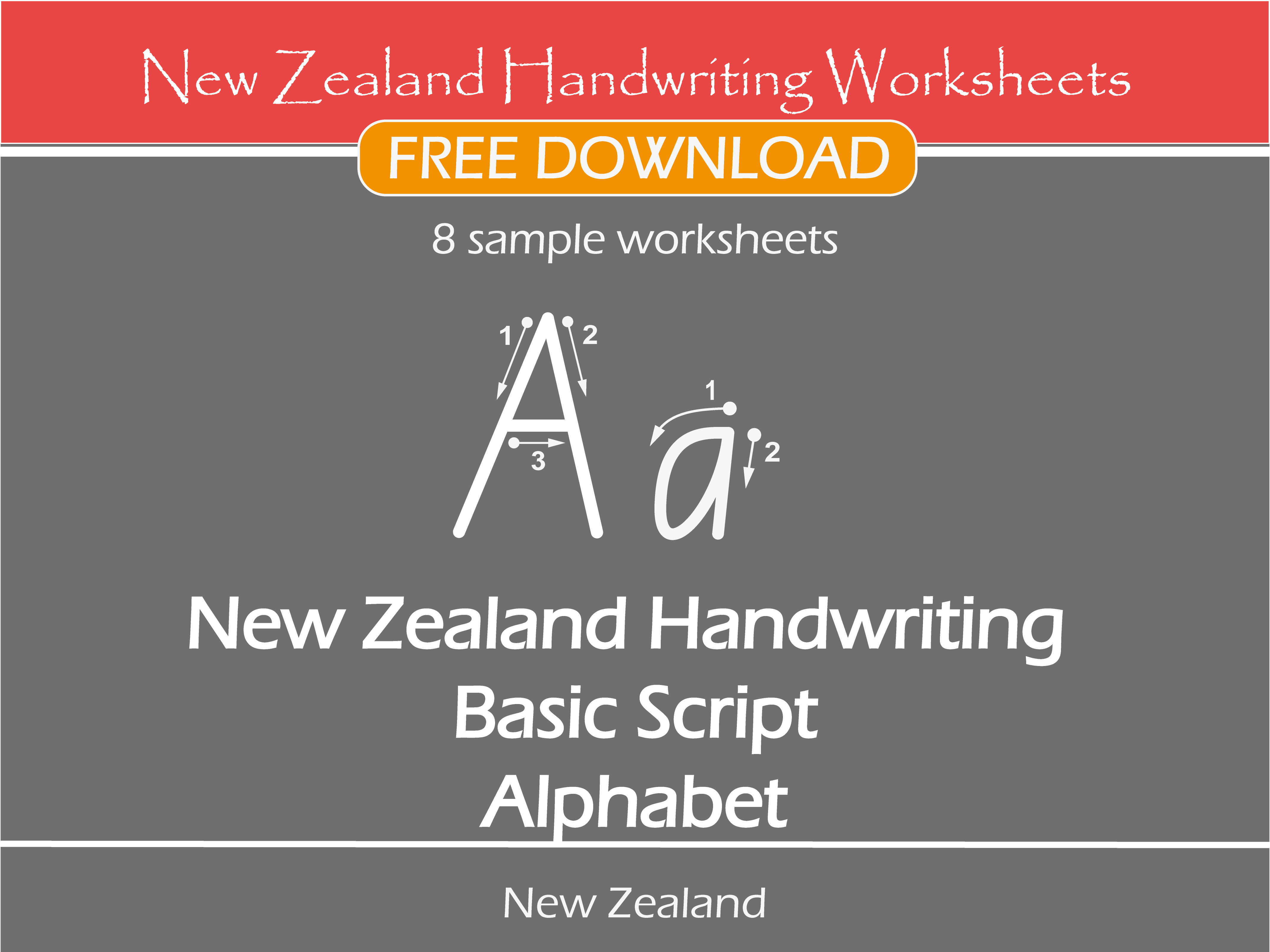 New Zealand Handwriting Worksheets New Zealand Basic