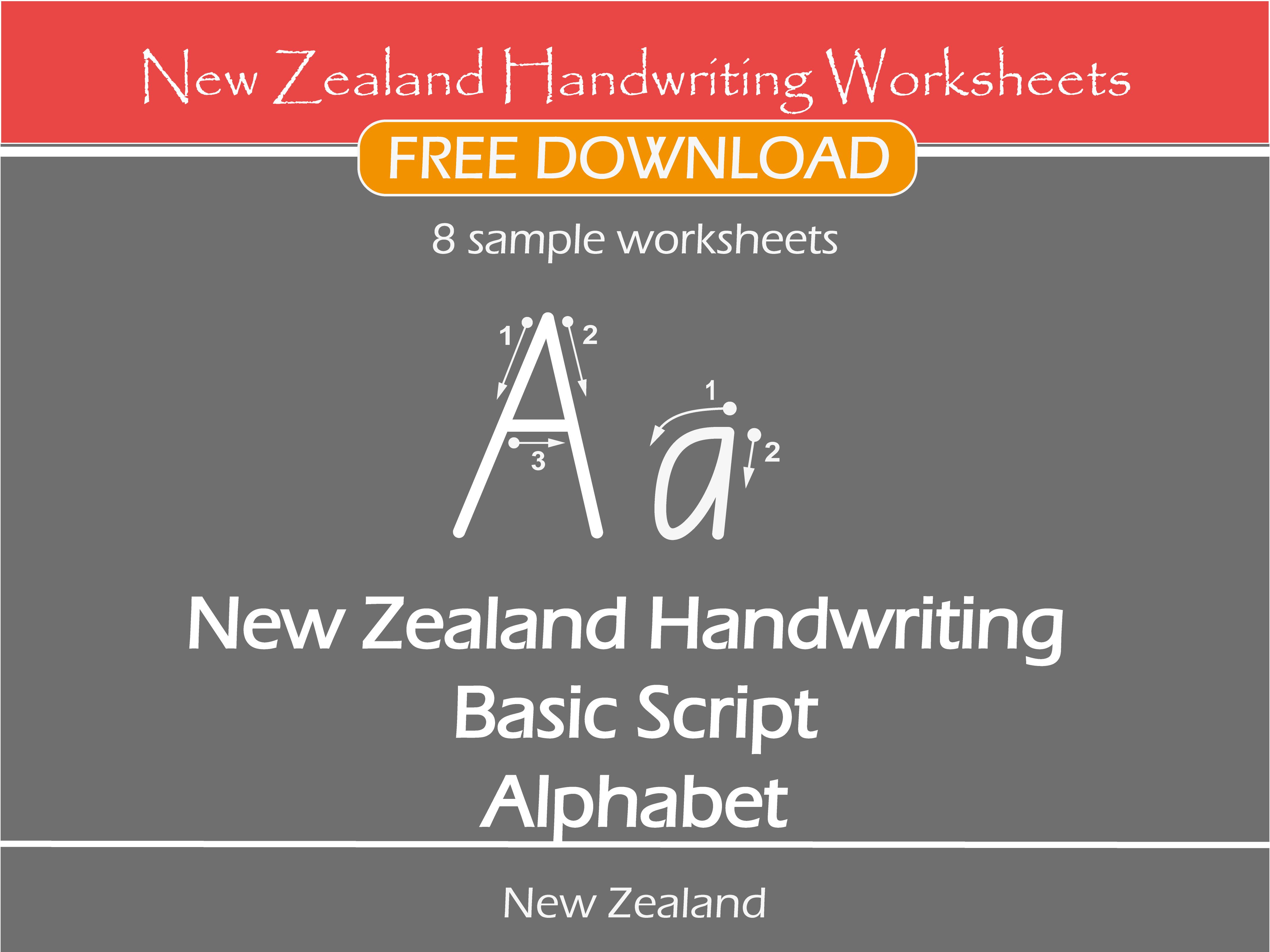 New Zealand Handwriting Worksheets New Zealand Basic