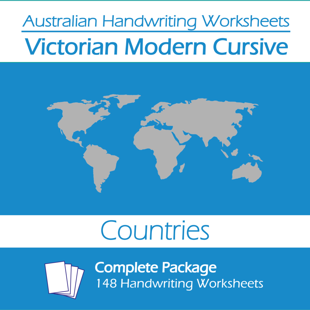 Australian Handwriting Worksheets Victorian Modern