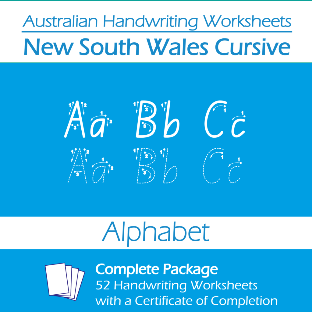 Australian Handwriting Worksheets New South Wales