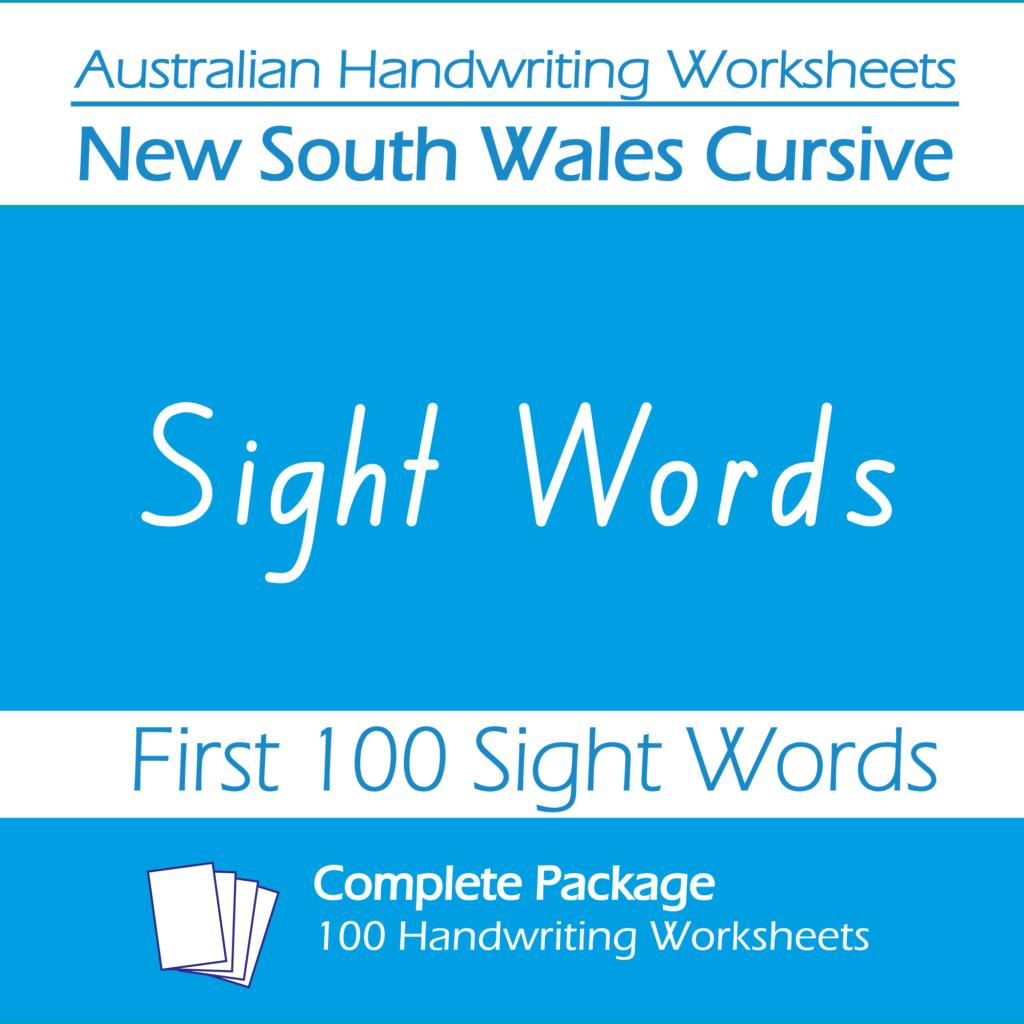 Australian Handwriting Worksheets New South Wales