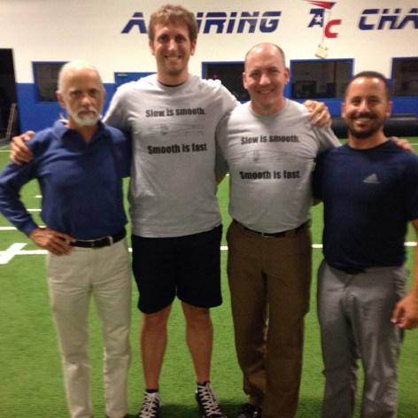 Dr. Ed Thomas, Me, Brett Jones, and Phil Scarito