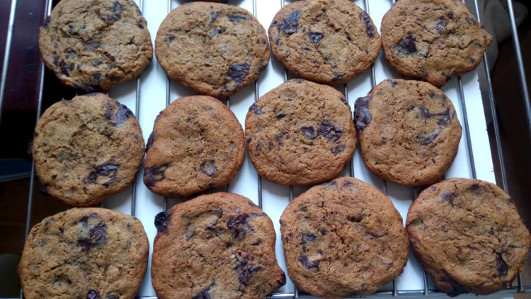 wholemeal chocolate chip cookies.