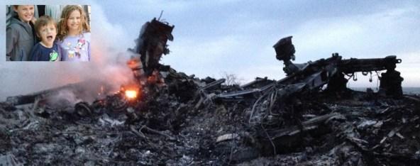 Três das crianças mortas no vôo MH17, de 17 de julho, da Malaysia Airlines