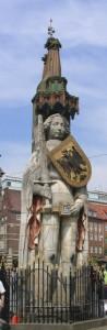 Roland, fonte em Bremen, As Cruzadas