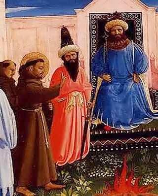 Sao Francisco e Sultao, Fra Angelico c 1429, Lindenau Museum, Altenberg, 280